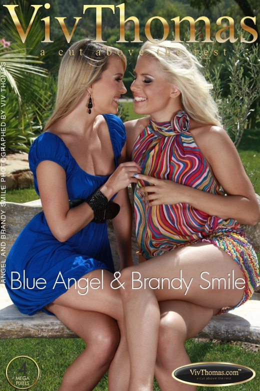 Blue Angel & Brandy Smile - `Blue Angel & Brandy Smile` - by Viv Thomas for VIVTHOMAS
