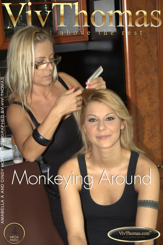 Amabella A & Cindy Hope - `Monkeying Around` - by Viv Thomas for VIVTHOMAS