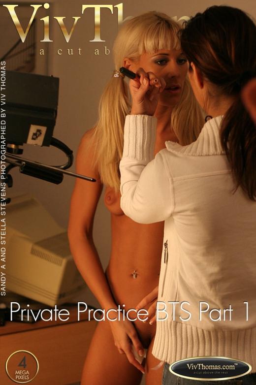 Sandy A & Stella Stevens - `Private Practice BTS Part 1` - by Viv Thomas for VIVTHOMAS