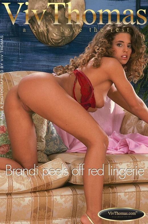 Brandi A - `Brandi peels off red lingerie` - by Viv Thomas for VT ARCHIVES