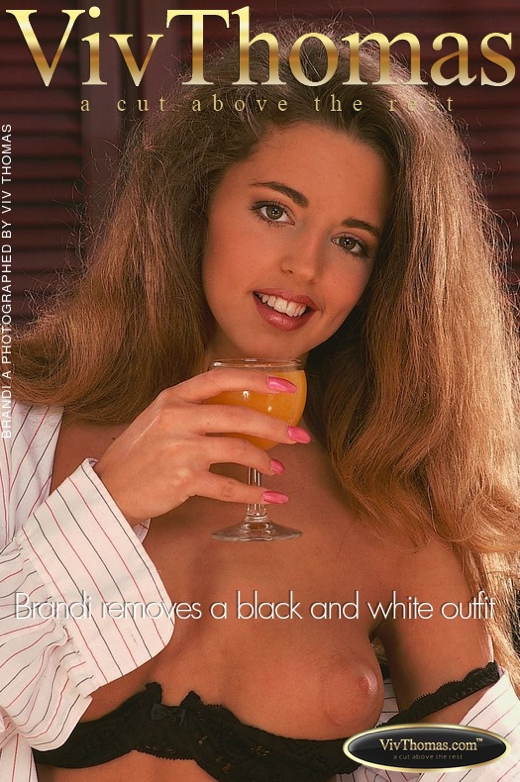 Brandi A - `Brandi removes a black and white outfit` - by Viv Thomas for VT ARCHIVES