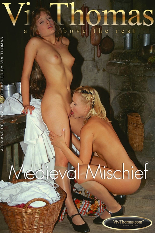 Jo & Petra A - `Medieval Mischief` - by Viv Thomas for VT ARCHIVES