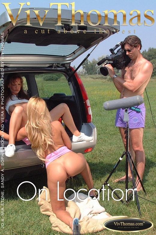 Jo & Mia Stone & Sandy A & Sophie Moon & Vera A - `On Location` - by Viv Thomas for VT ARCHIVES