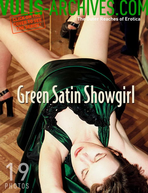 `Green Satin Showgirl` - by Ralf Vulis for VULIS-ARCHIVES
