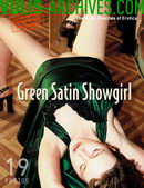 Green Satin Showgirl