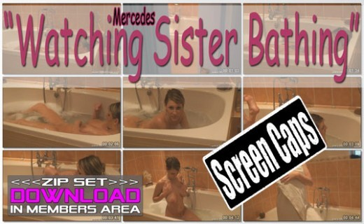 Mercedes - `Watching Sister Bathing` - for WANKITNOW