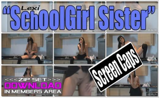 Lexi - `Schoolgirl Sister` - for WANKITNOW