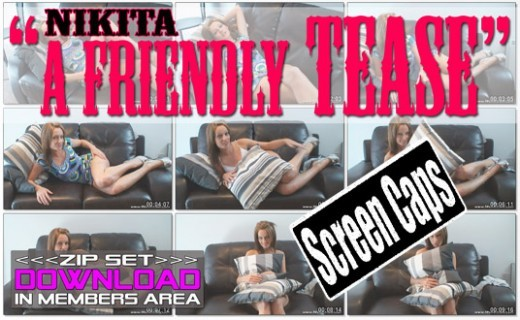 Nikita - `A Friendly Tease` - for WANKITNOW