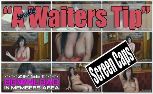Shelly - `A Waiters Tip` - for WANKITNOW