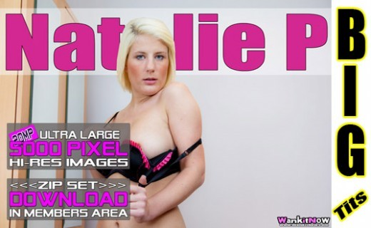 Natalie P - `Black & Pink Bra` - for WANKITNOW