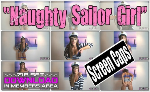 Cate Harrington - `Naughty Sailor Girl` - for WANKITNOW