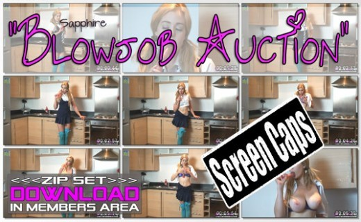 Sapphire - `Blowjob Auction` - for WANKITNOW
