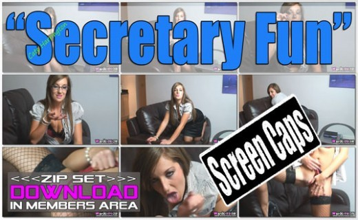 Cate Harrington - `Secretary Fun` - for WANKITNOW