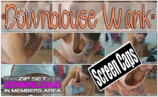 Jess West - `Downblouse Wank` - for WANKITNOW