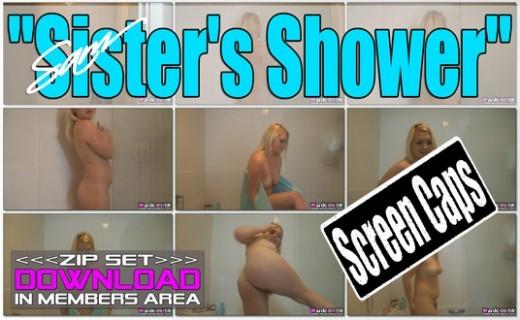 Sam - `Sister's Shower` - for WANKITNOW