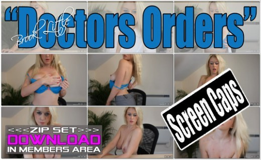 Brook Little - `Doctors Orders` - for WANKITNOW