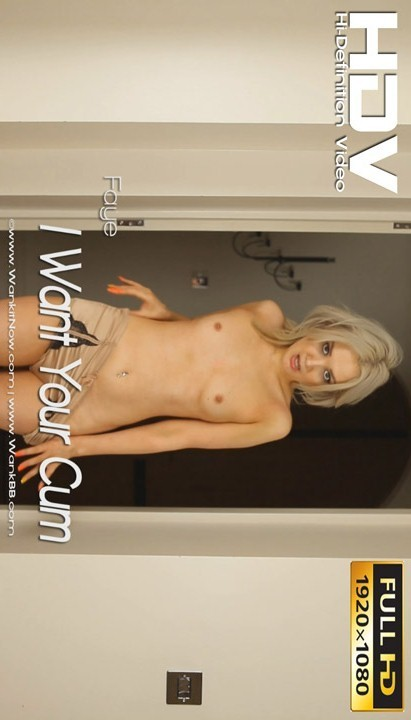 Faye - `I Want Your Cum` - for WANKITNOW