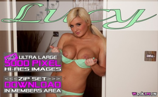 Lucy - `Gorgeous Blond` - for WANKITNOW