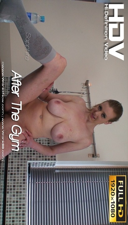 Sapphire - `After The Gym` - for WANKITNOW