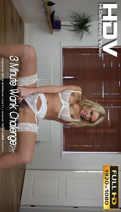 Amber Jayne - `3 Minute Wank Challenge - Part 1` - for WANKITNOW