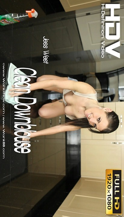 Jess West - `Clean Downblouse` - for WANKITNOW