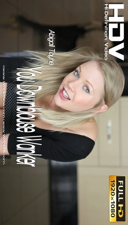 Abigail Toyne in You Downblouse Wanker video from WANKITNOW