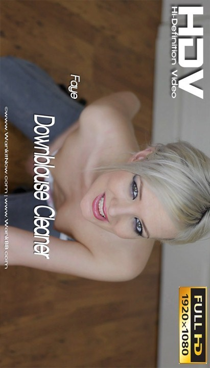Faye - `Downblouse Cleaner` - for WANKITNOW