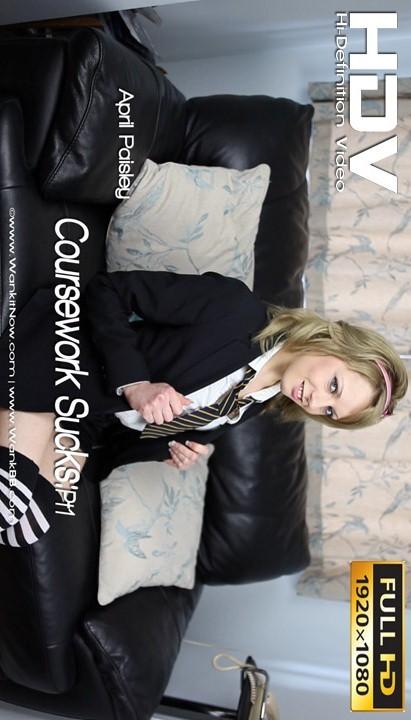 April Paisley - `Coursework Suck - Part 1` - for WANKITNOW