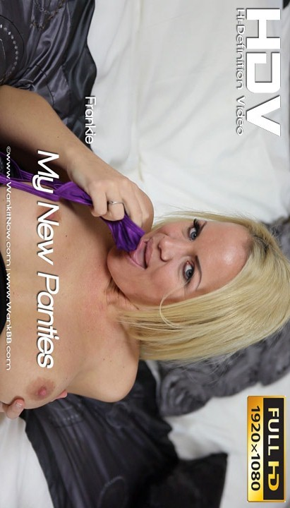 Frankie - `My New Panties` - for WANKITNOW