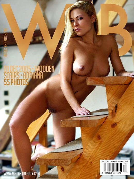 Adriana in Wooden Stairs gallery from WATCH4BEAUTY by Mark