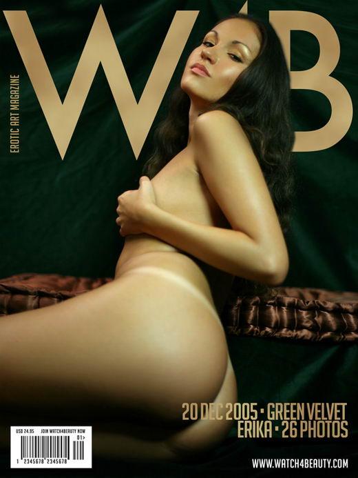 Erika in Green Velvet gallery from WATCH4BEAUTY by Mark