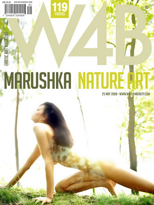 Marushka - `Nature art` - by Mark for WATCH4BEAUTY