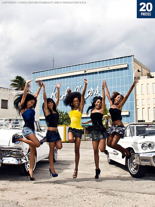 Unknown girl - `W4B Magazine - Cuban Girls,American Cars` - by Mark for WATCH4BEAUTY