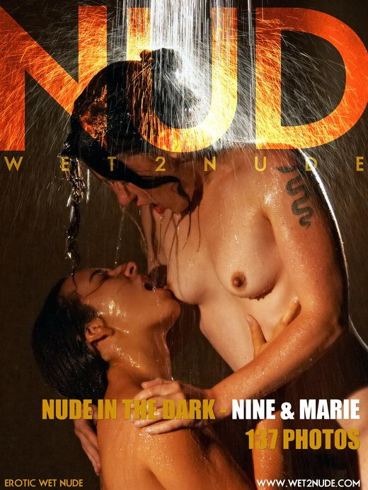 Nine & Marie - `Nude in the Dark` - by Genoll for WET2NUDE