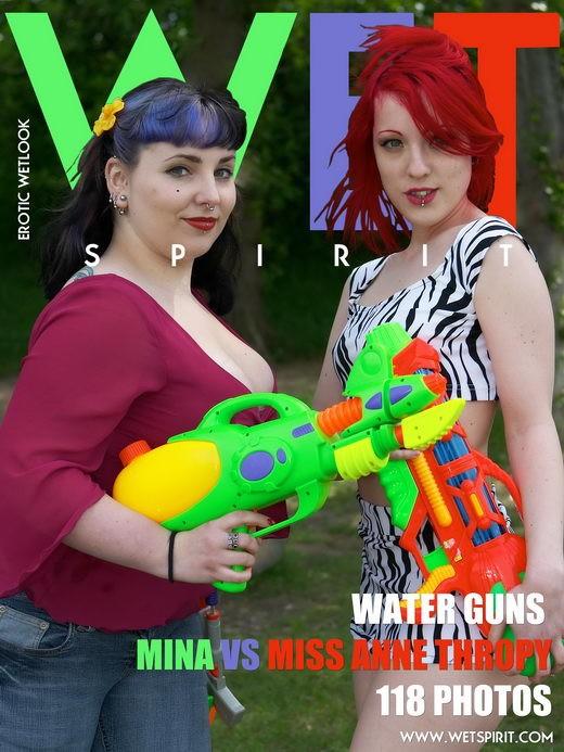 Mina & Miss Anne Thropy - `Water Guns` - by Genoll for WETSPIRIT