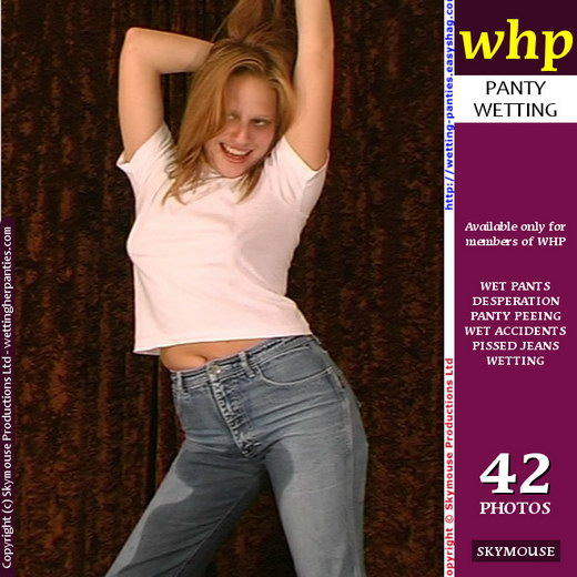Traci - `For Traci Wet Jeans Is Party Time` - by Skymouse for WETTINGHERPANTIES