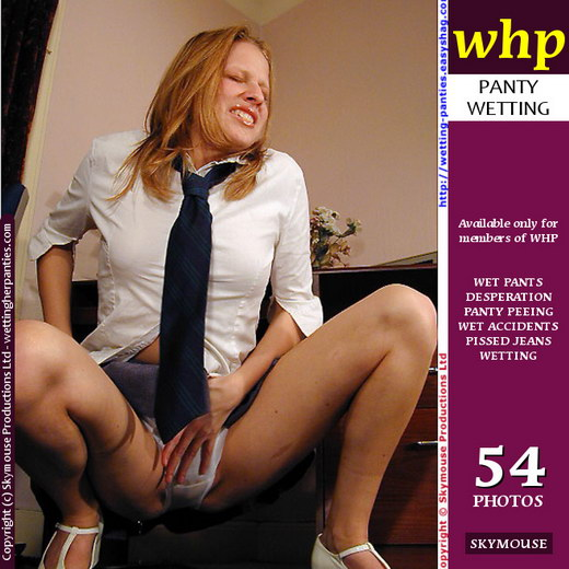Traci - `Student Traci Wets Her White Panties Under Her Short School Skirt` - by Skymouse for WETTINGHERPANTIES