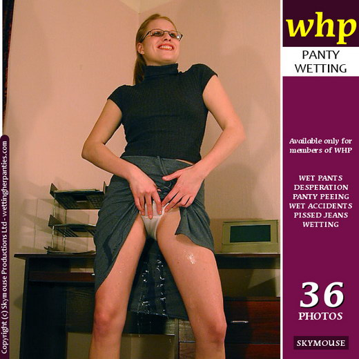 Traci - `Office Girl Traci Pisses Her Panties And Skirt` - by Skymouse for WETTINGHERPANTIES