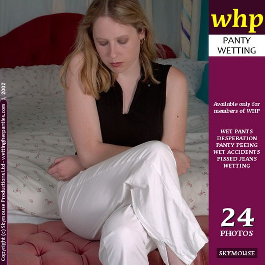 Shanine - `Shanine Has An Accident In Her White Jeans` - by Skymouse for WETTINGHERPANTIES