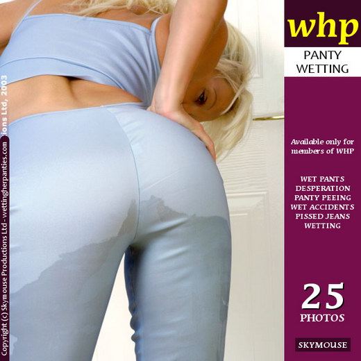 Sammy M - `Sammy M Wets Her Pale Blue Pants` - by Skymouse for WETTINGHERPANTIES
