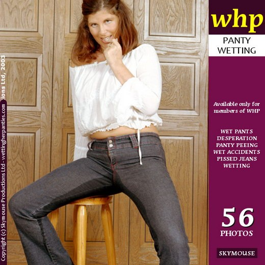 Jilly - `Jilly Has A Desperate Peeing Episode In Her Dark Blue Jeans` - by Skymouse for WETTINGHERPANTIES