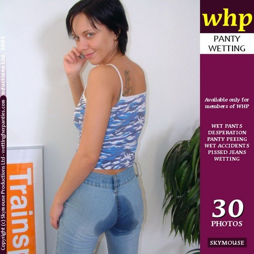 Justine - `Justine Wets Her Pants Anytime Anywhere` - by Skymouse for WETTINGHERPANTIES