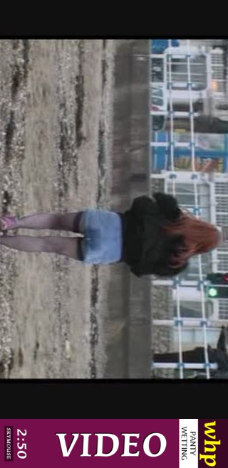 Frenchie - `Frenchie pees her panties and skirt on the beach` - by Skymouse for WETTINGHERPANTIES
