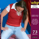 Anna Soaks Her Pale Blue Jeans And Red Cotton Panties