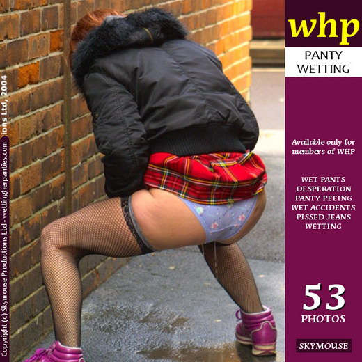 Frenchie - `Frenchie Wets Her Knickers In An Alley` - by Skymouse for WETTINGHERPANTIES