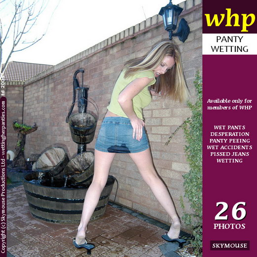 Angel B - `Angel B Pees Her Knickers In The Garden` - by Skymouse for WETTINGHERPANTIES