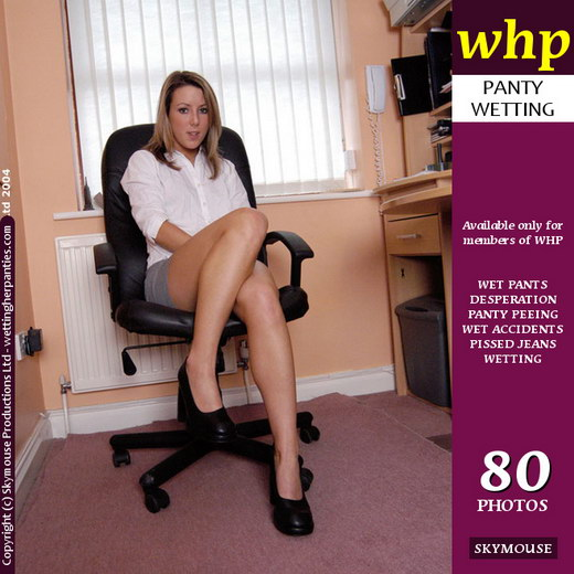Sabrina - `Desperate Sabrina Pees Her Panties In The Office` - by Skymouse for WETTINGHERPANTIES