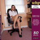 Desperate Sabrina Pees Her Panties In The Office