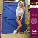 Nicki Pisses Her Navy Blue Panties Under Her Denim Skirt