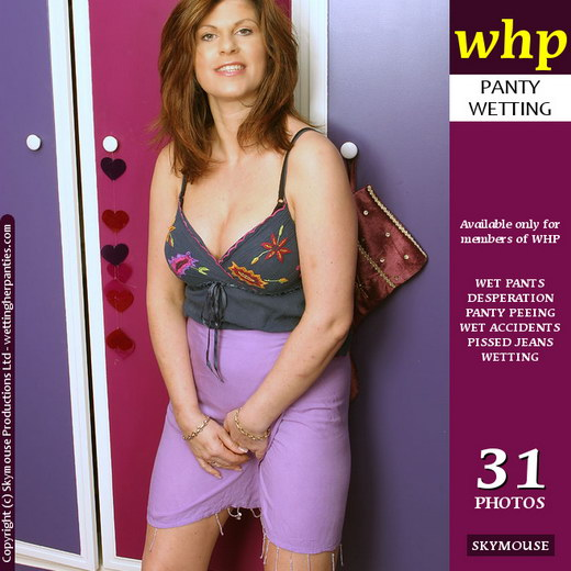 Jilly - `Purple Skirt And Pissy Panties` - by Skymouse for WETTINGHERPANTIES
